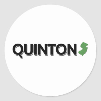 Quinton, New Jersey Classic Round Sticker