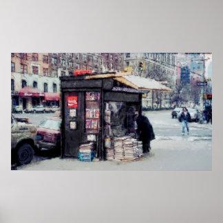 QUIOSCO en BROADWAY y la 75.a calle - NUEVA YORK Impresiones