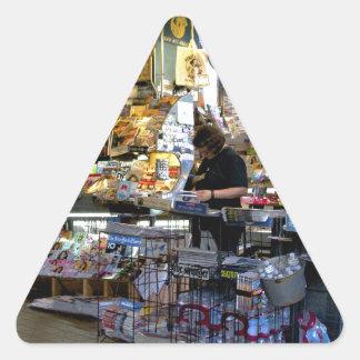 Quiosco Pegatina Triangular