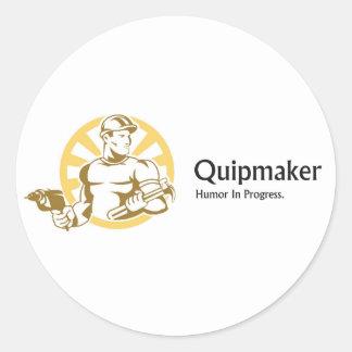 Quipmaker Classic Round Sticker
