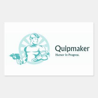 Quipmaker Rectangular Sticker