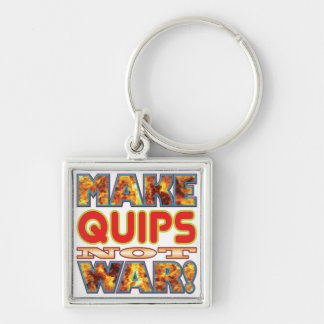Quips Make X Silver-Colored Square Keychain