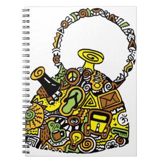 Quirkkettle.png Spiral Notebook