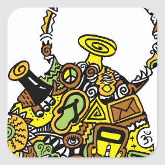 Quirkkettle.png Square Sticker