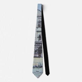 quirky and colorful sketchy original art fun neck tie