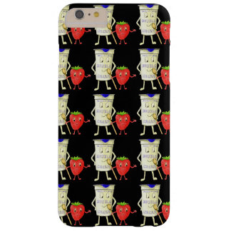 Quirky art strawberries and cream design barely there iPhone 6 plus case
