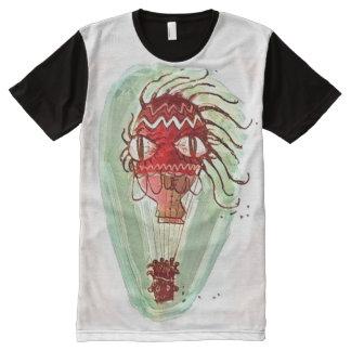 quirky big eye balloon cartoon style illustration All-Over-Print T-Shirt