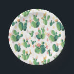 "Quirky Cactus Garden Themed Party Plate<br><div class=""desc"">Celebrate in style with this gorgeous garden-themed party plate in light green with artistic cacti! Check out my shop for more matching party products!</div>"