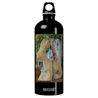 Quirky Carrot Riding Rabbit Water Bottle
