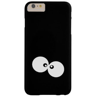 Quirky Cartoon Eyes (Round Eyes) - Black White Barely There iPhone 6 Plus Case
