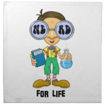 Quirky character products  Nerd for Life (Zebart) Cloth Napkin