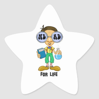 Quirky character products  Nerd for Life (Zebart) Star Sticker