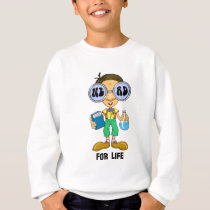 Quirky character products  Nerd for Life (Zebart) Sweatshirt
