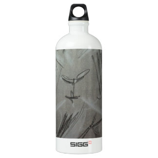 Quirky Charcoal Elephant Aluminum Water Bottle