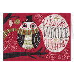 Quirky Christmas Owl Card