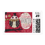 Quirky Christmas Owl Postage