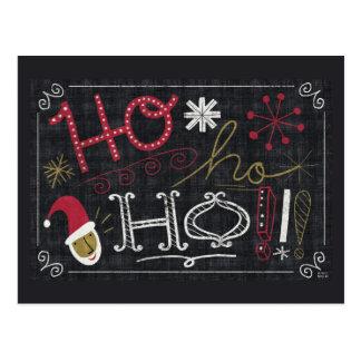 Quirky Christmas Santa Postcard