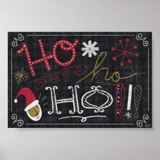 Quirky Christmas Santa Poster