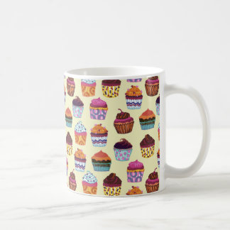 Quirky Colorful Cupcakes Illustration Pattern Coffee Mug