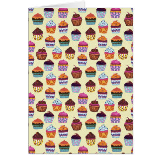 Quirky Colorful Cupcakes Note Card