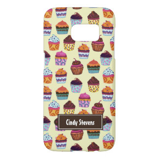 Quirky Colorful Cupcakes Samsung Galaxy S7 Case