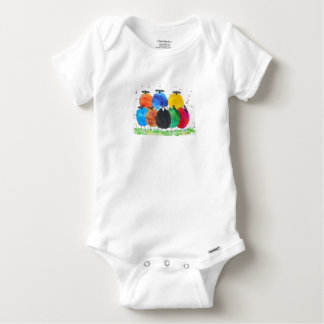 Quirky Colourful Sheep Baby Onesie