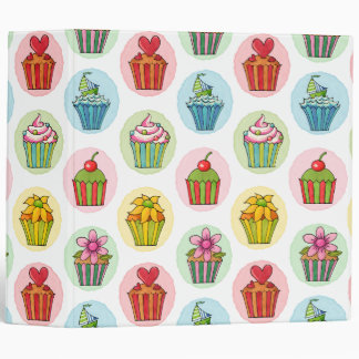 """Quirky Cupcakes Avery Signature 2"""" Ring Binder"""