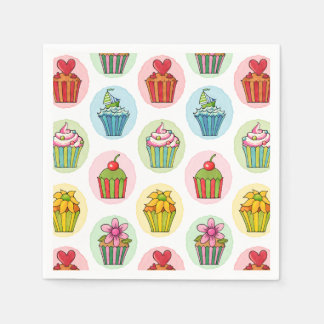 Quirky Cupcakes Cocktail Paper Napkins