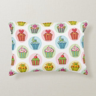 "Quirky Cupcakes Cotton Accent Pillow 16"" x 12"""