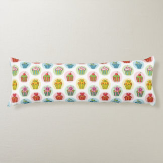 "Quirky Cupcakes Cotton Body Pillow ( 20"" x 54"")"