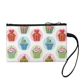 Quirky Cupcakes Key Coin Clutch