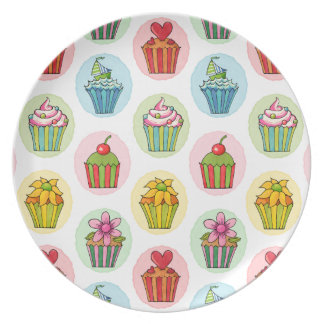 Quirky Cupcakes Melamine Plate