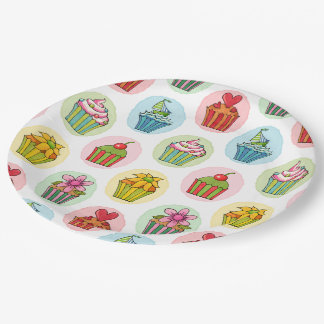 Quirky Cupcakes Paper Plates 9""