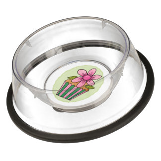 Quirky Cupcakes Pink Daisy Pet Bowl - Large