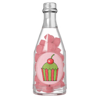 Quirky Cupcakes Red Cherry Champagne Bottle Favors Gum