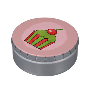 Quirky Cupcakes Red Cherry Jelly Belly™ Tin Candy Tin