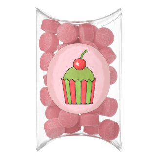 Quirky Cupcakes Red Cherry Pillow Box Favor Gum