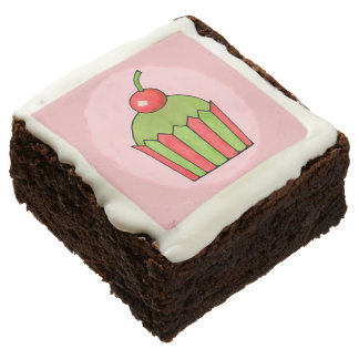 Quirky Cupcakes Red Cherry Square Brownies