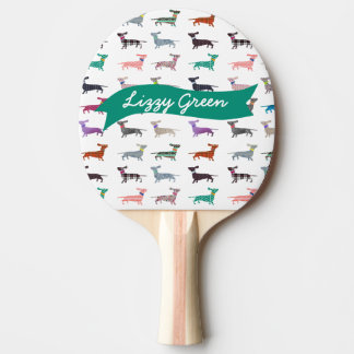 Quirky Dachshund Ping Pong Paddle