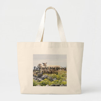 Quirky Designs - Sheep in a field Large Tote Bag