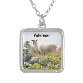 Quirky Designs - Sheep in a field Silver Plated Necklace