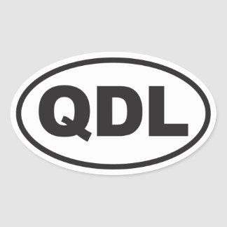 Quirky Dog Lady Oval Sticker