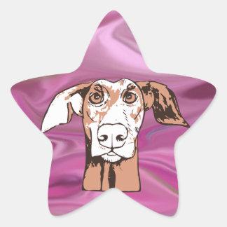 Quirky dog star sticker