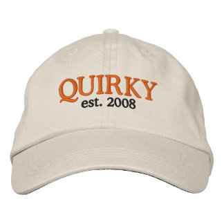 QUIRKY, est. 2008 Embroidered Baseball Caps