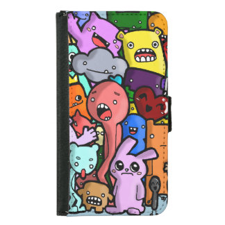 Quirky Friends Wallet Phone Case