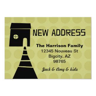 Quirky Fun New Address Avocado 5x7 Paper Invitation Card
