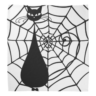 Quirky Funny Black Cat Feline Bandana