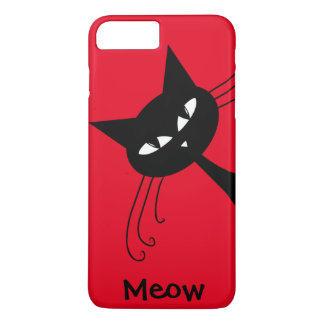 Quirky Funny Black Cat Feline iPhone 7 Plus Case