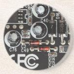 Quirky Geeks Circuit Board Graphic Sandstone Coaster