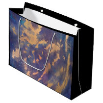 Quirky Gold Purple Black Blue Turquoise Large Gift Bag